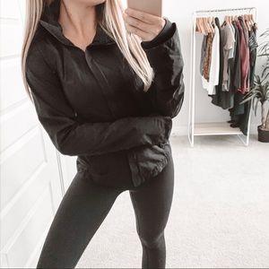 Lululemon Run In the Rain Full Zip Jacket Black